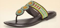 Embellished Sandal www.teelieturner.com Tribal-inspired seed bead detail accents this distinctive flat sandal, while cushioned soles provide all-day comfort. PHP 4,363.00 #fashion