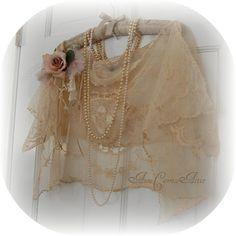 Lace Shawl Caplet 1920s Style by auntcarriesattic,