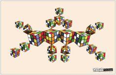 Rubicks y mucho color para esta ilustración #Ai #Geometry #Color #Farben