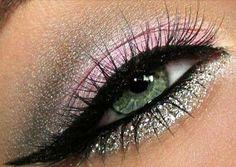 V-day Eye Makeup - #eyemakeup #pinkmakeup #pinkshadow #glittershadow #eyeshadow - bellashoot.com