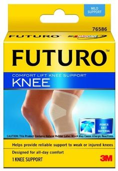 Futuro Comfort Lift Knee Support, Small by Futuro. $7.49. Walk through your day with confidence. The futuro comfort lift knee support helps provide extra support to knees that need it. Wear it all day and keep on keeping up with your busy schedule. Helps provide reliable support to weak or injured knees. Breathable, dual-stretch power-knit material for comfort. Comfort panel reduces bunching behind knee. Fits discreetly under clothing.