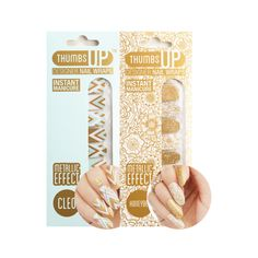 Metallic designer nail art wrap pack with Cleo and Honeybee.