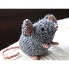 Mousie - by Ysolda - magpie patterns. Knit in the round with minimal seaming.
