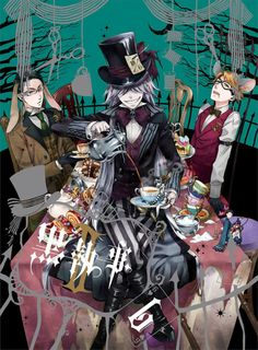 Black Butler anime and manga characters Black Butler Anime, Black Butler Undertaker, Black Butler 3, Black Butler Season 2, Ciel Phantomhive, Blue Exorcist, Kawaii, Yatogami Noragami, Vocaloid