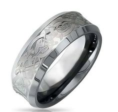 8MM CELTIC RING CRAFTED OUT OF TUNGSTEN SALE 57.94 BY Northern Royal