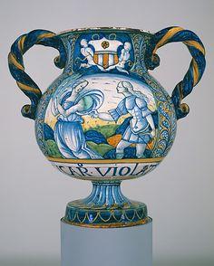 Apothecary Vase (vaso da farmacia) Date: ca. 1515 Medium: Maiolica (tin-glazed earthenware)