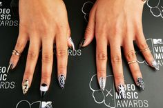 'Girl Code' cast member Nessa's nails at the 2013 MTV Video Music Awards on Aug. 25 in Brooklyn, NY. | MTV Photo Gallery