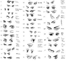 Como Desenhar Mangá: Gabaritos de Olhos