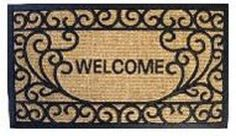 Dollhouse Miniature Welcome Mat, Welcome Mat, Black and Brown #RND164