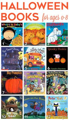Halloween books for ages 0-8