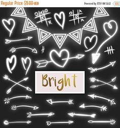 Flash:66% Off Entire Shop Lights clipart - light hearts and arrows clip art PNG tribal fairies arrows arrows wedding lights party lights Chr by DesignLitter  1.70 USD  Light arrows hearts and doodles.. Bright clip art in white. Bright arrows. Light clip art including 27 light elements: hearts arrows and a tribal frame. You will receive: 26 lights clipart on transparent background .PNG high resolution 300 dpi approximately 8 inches in their longest side  1 tribal light frame .PNG on…