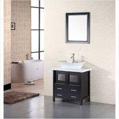 Design Element Elite Single Bathroom Vanity Set - modern - bathroom vanities and sink consoles - Hayneedle Contemporary Bathroom, Contemporary Bathroom Vanity, Sideboards For Sale, Vanity, Single Sink Vanity, Stylish Bathroom, Bathroom, Design Element, Bathrooms Remodel