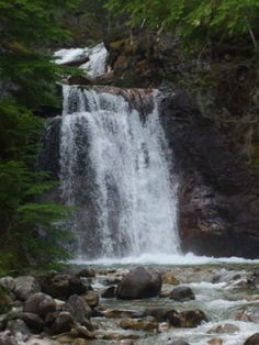 Roadside Waterfall we discovered on the way to Nakusp Hot Springs in BC Hot Springs, Summer 2014, British Columbia, Waterfalls, The Great Outdoors, Over The Years, Sleeve Tattoos, Places Ive Been, Beautiful Places