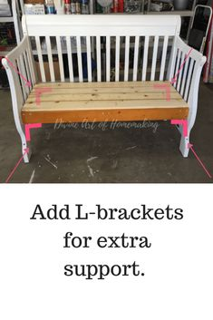 Crib to Bench DIY - Plus how to know if your crib can be converted! - Baby Cribs , Crib to Bench DIY - Plus how to know if your crib can be converted! Crib to Bench DIY - Plus how to know if your crib can be converted! Baby Bed Bench, Crib Bench, Headboard Benches, Wall Bench, Old Baby Cribs, Baby Crib Diy, Old Cribs, Baby Bedding, Repurposed Furniture