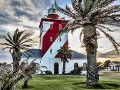 Faro de Green Point en Ciudad del Cabo. Considerado como el faro en uso más antiguo de Sudáfrica, se construyó en 1824.
