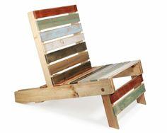 Gartenmöbel aus Paletten – trendy Außenmöbel basteln - diy projekt bunte gartenmöbel aus paletten stuhl basteln