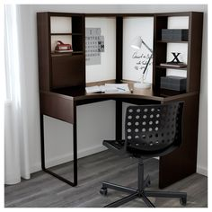 Small Desk Ikea - Custom designed home office solutions for your house office might look like an old pax. Ikea Micke, Micke Desk, Corner Desk With Hutch, Desk Hutch, Small Corner Desk, Ikea Small Desk, Corner Workstation, Workspace Design, Deco Design