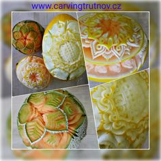 carving fruit carving birthday gift thai carving inspiration Trutnov dárek inspirace kytky květiny flower flowers dýně pumpkin pumpinks