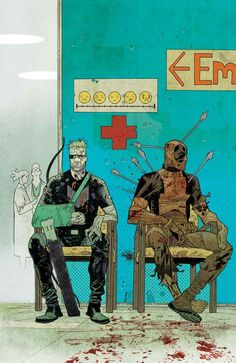 HAWKEYE VS. DEADPOOL #2 (of 4)  GERRY DUGGAN (W) • MATTEO LOLLI (A)  Cover by JAMES HARREN