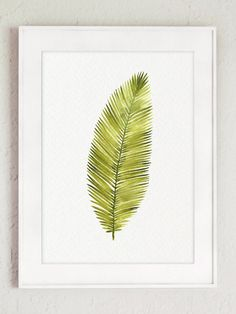 Watercolor Leaf Abstract Wall Decor Minimalist by ColorWatercolor