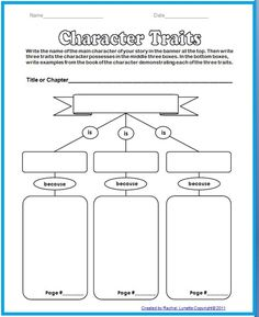 character+traits+graphic+organizer