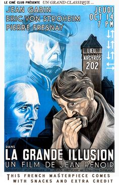 La grande illusion (La grande illusione) by Jean Renoir 1937 Jean Renoir, Great Movies, New Movies, Movies To Watch, Martin Scorsese, Stanley Kubrick, Alfred Hitchcock, Illusion Movie, Pompidou Metz