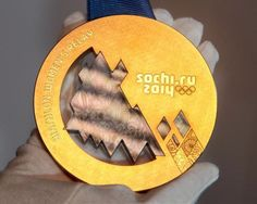Sochi Olympic medals, with meteorites in 'em... Stunning.