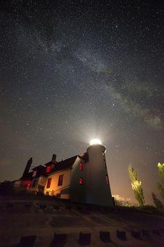 Stars over Point Betsie Point Betsie, Crystalia, Michigan