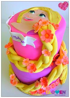 Tangled cake  Valentine's cake for your little girls, This brings back good old memories when you dream about your knight and shining armor when you were little #bestovengloves #gloven
