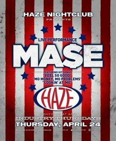 MA$E Performs Live at HAZE Nightclub Las Vegas Thursday April 24th. 702.741.CITY(2489) CITY VIP CONCIERGE for Table & Bottle Service, Tickets, VIP Services and the Best of Any & Everything Fabulous in Las Vegas!!! #HAZELasVegas #VegasBottleService #CityVIPConcierge CALL OR CLICK TO BOOK www.CityVIPConcierge.com