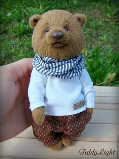 Купить Мишка-тедди Патрик - коричневый, мишка тедди, мишка ручной работы…