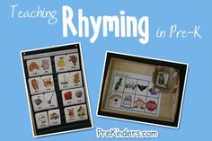 Free printables for a variety of subjects. Great Pre-k literacy/phonology/language materials Rhyming activities Rhyming Activities, Pre K Activities, Kindergarten Literacy, Language Activities, Preschool Learning, Classroom Activities, Fun Learning, Preschool Activities, Classroom Ideas