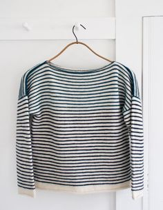 Striped Sweater ~ might take up knitting to make this one.