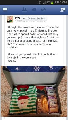 ♥♥♥ this idea! Do something similar with Bekki with movie n drink etc before bed but this is awesome!