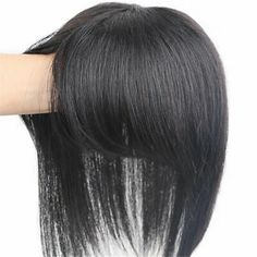Human Hair Clip Ins, Remy Human Hair, Human Hair Wigs, Front Hair Styles, Curly Hair Styles, Bob Haircut Back View, Hairpieces For Women, Covering Gray Hair, Wavy Hair Extensions