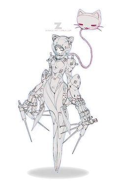 Tilda - Space Medic by Paul Kwon Character Concept, Character Art, Concept Art, Illustrations, Illustration Art, Reference Manga, Arte Robot, Poses References, Character Design References