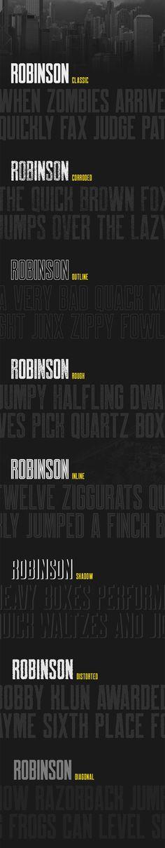 Robinson - Free Font by Mehmet Reha Tugcu Graphic Design Fonts, Web Design, Lettering Design, Free Typeface, Typeface Font, Creative Fonts, Cool Fonts, Typography Inspiration, Graphic Design Inspiration