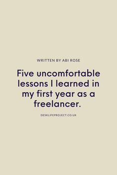 When I went freelance one year ago, it was the uncomfortable stuff no one wanted to talk about I found tricky to understand.   To help you make decisions confidently, I've put together some advice on awkward truths that'll make weird situations a total breeze to deal with. Whatever stage of freelance life you're at.