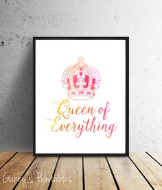 50% Off  Queen of Everything INSTANT download by GabbysPrintables