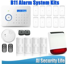 446.00$  Buy here - http://aliz6p.shopchina.info/1/go.php?t=32625975959 - Etiger Chuango B11 PSTN/GSM Alarm Systems Security Home With RFID Tag Intelligence Wireless Strobe Siren  #magazine