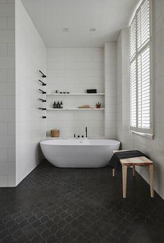 Luonnonkivi Pietra Lavica custom cut, seinälaatat white line 20x40, tasot marmoria