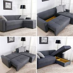 bottom left -single couch piece with pull out seat and flip down back to make dbl bed... can totally do this!