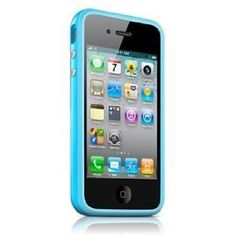 Bumper Case for Apple iPhone4 - Bumper with buttons for volume and power - Blue $1.01