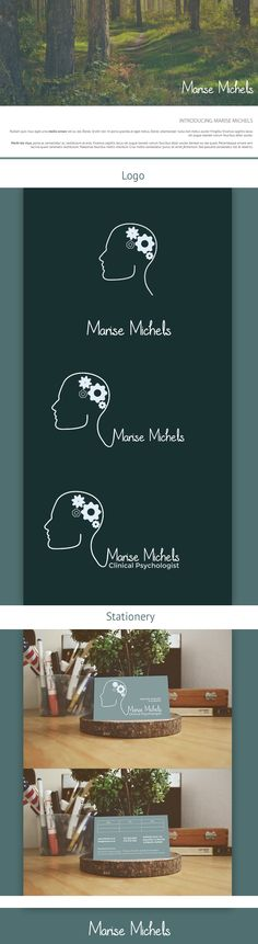 Logo and Business Card design for local Psychologist.