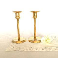 A personal favorite from my Etsy shop https://www.etsy.com/ca/listing/245991599/gold-candlesticks-24-carat-gold-plated