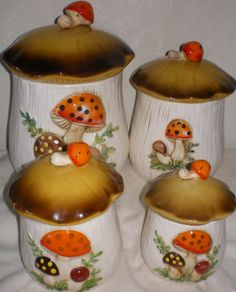 Vintage 1970s Sears Merry Mushroom 4 Piece by VINTAGEShopsDelight, $44.00