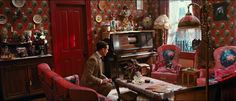 The Great Gatsby - Set Decorator: Beverly Dunn - Red New York City apartment.