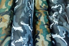 Our Blue & Green camouflage fleece fabric.