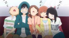 Kominato, Kou, Futaba, Yuuri, and Murao   ~Ao Haru Ride