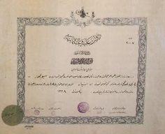 Eczacı mektebi diploması.